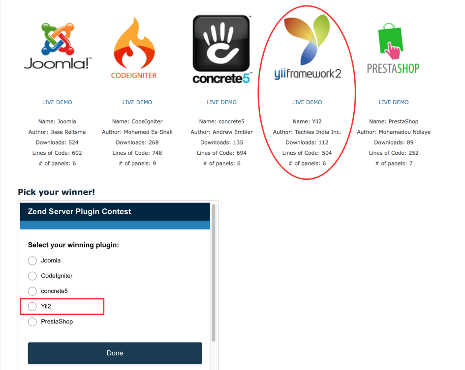 Vote for Yii Plugin for ZRay by Techies India Inc.