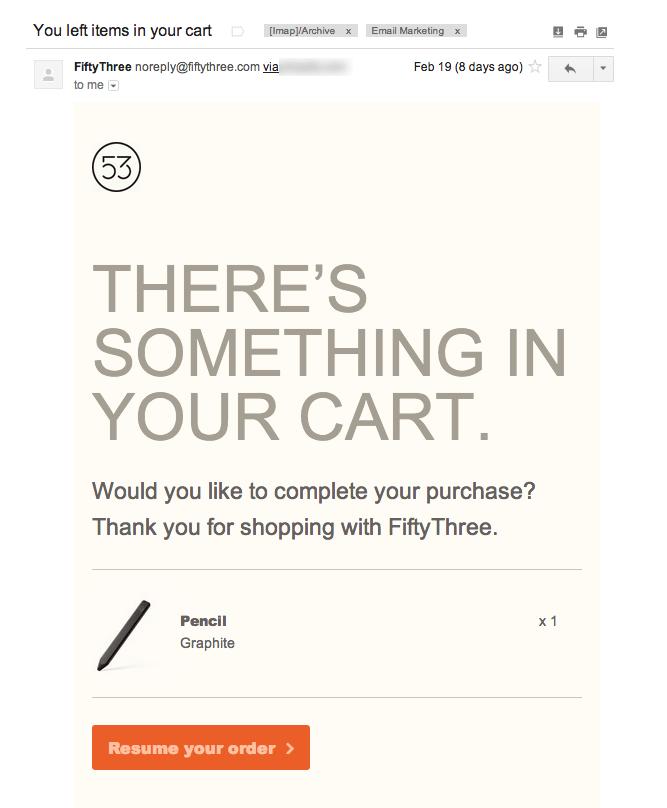 Tracking cart abandonment