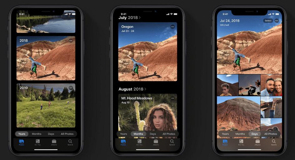 iOS 13 Photo App