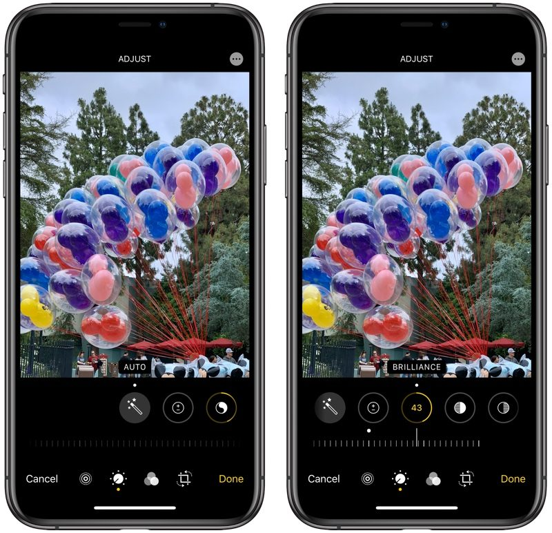 iOS 13 Photo Editing