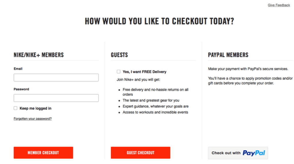 Provide Guest Checkout Options